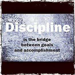Discipline Bridge Between Goal