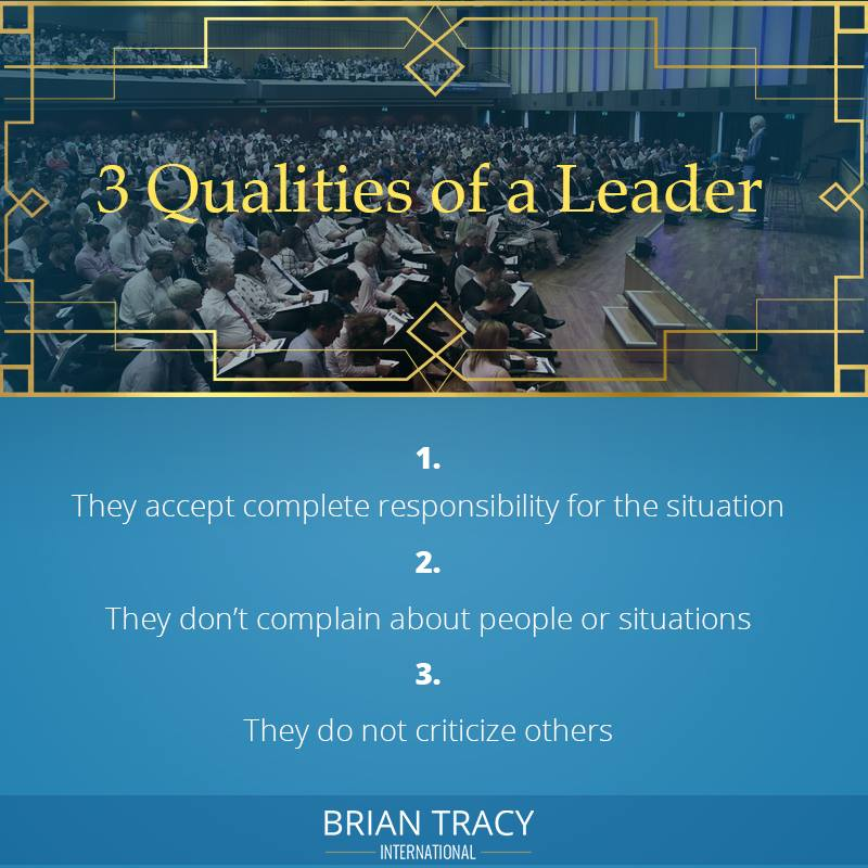 3 Qualities of Leader (Brain Tracy)