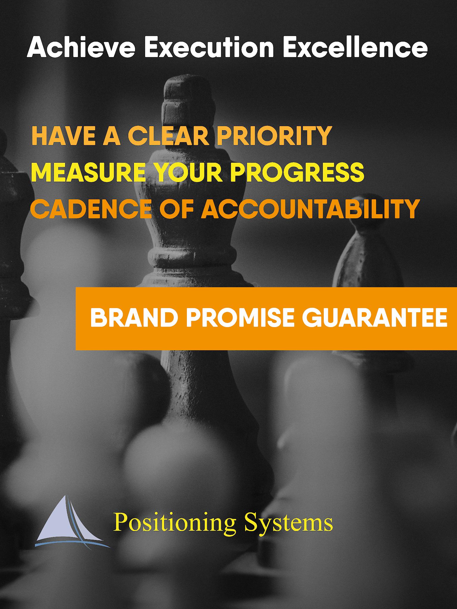 Acheive Execution Excellence BP Guarantee poster
