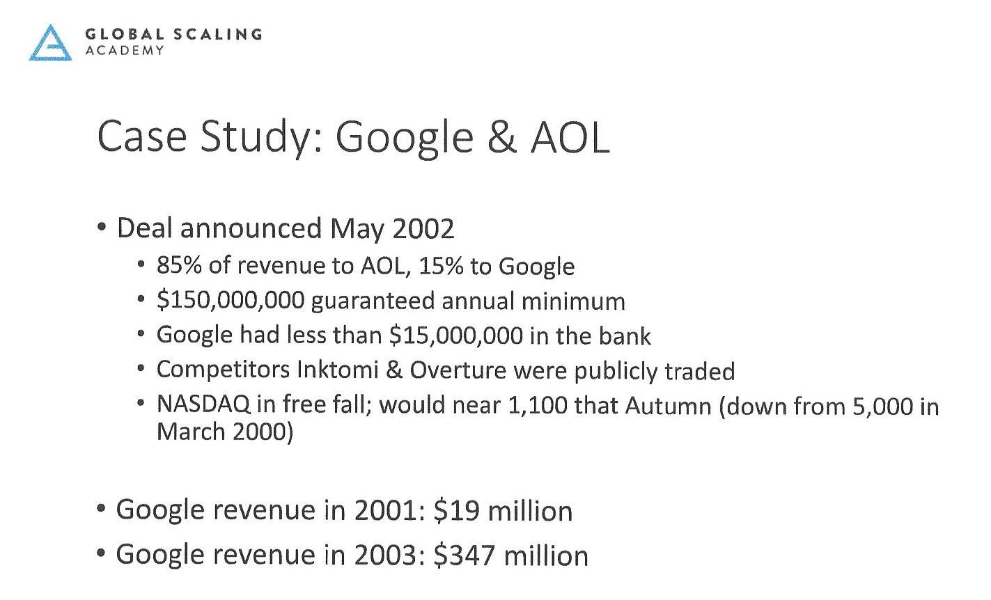 Blitzscaling Case Study Google & AOL