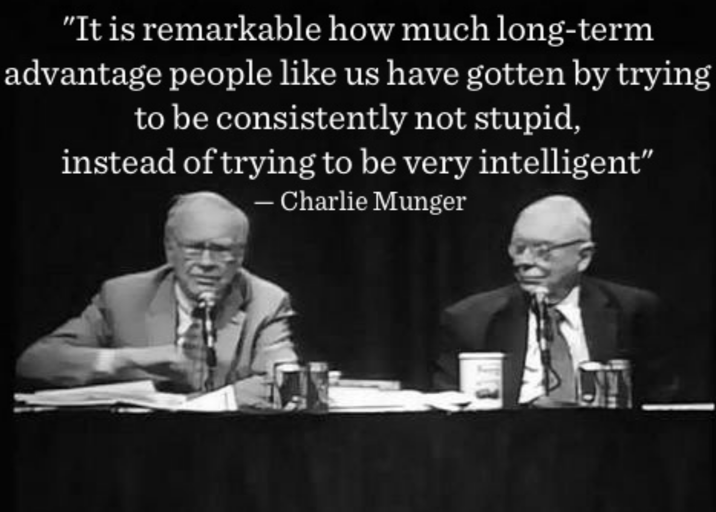 Charlie Munger not be stupid