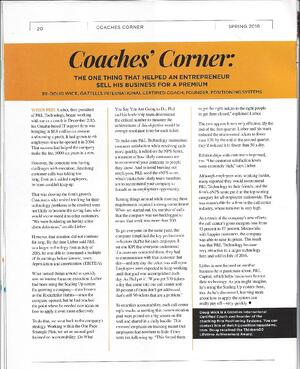 Coaches Corner P&L Tech April 2018 Scaling UP Mag.