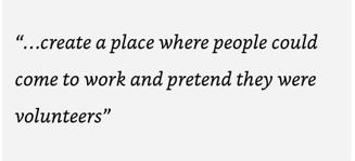 Create Workplace pretend Volunteers