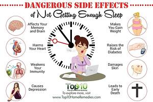 Dangerous Side Effects to Not Getting Enough Sleep