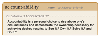 Def of Accountability - See it, Own it, Solve it, Do it