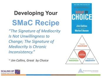 Develop SMaC Recipe Quote Mediocrity
