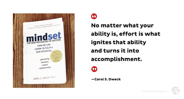 Effort Ignites - Growth Mindset - Carol Dweck