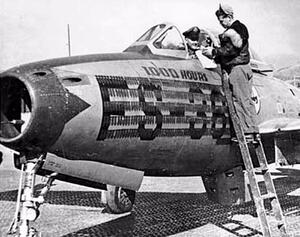 Engineer measuring Jet Pilot Seat