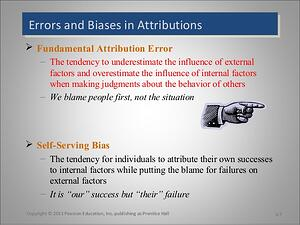 Fundamental Attribution Error.  bias