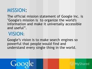 Google's Mission & Vision-1
