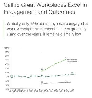 Great Workplaces Excel in Engagement (Gallup)
