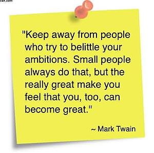 Mark Twain Keep Away from People who