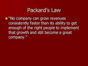 Packards Law