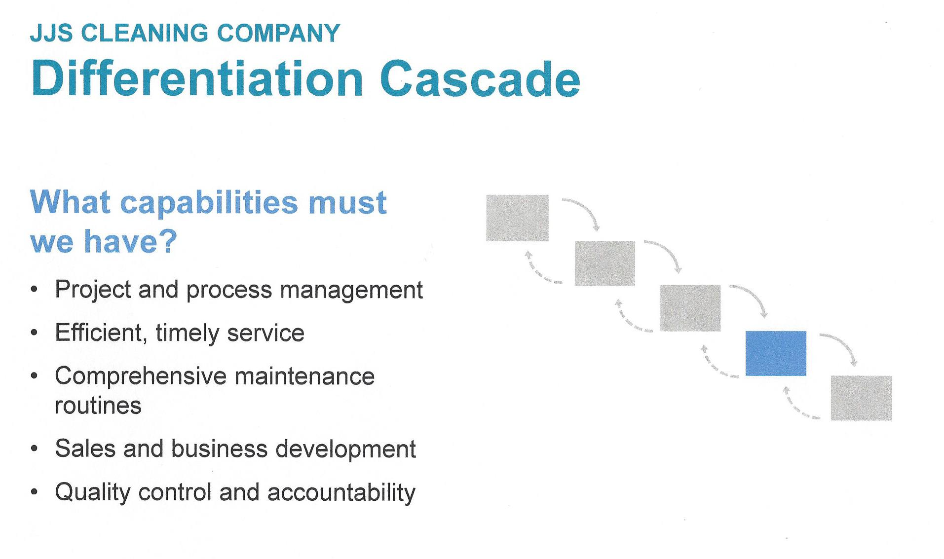 Play to Win - Differentiation Cascade - Capabilities
