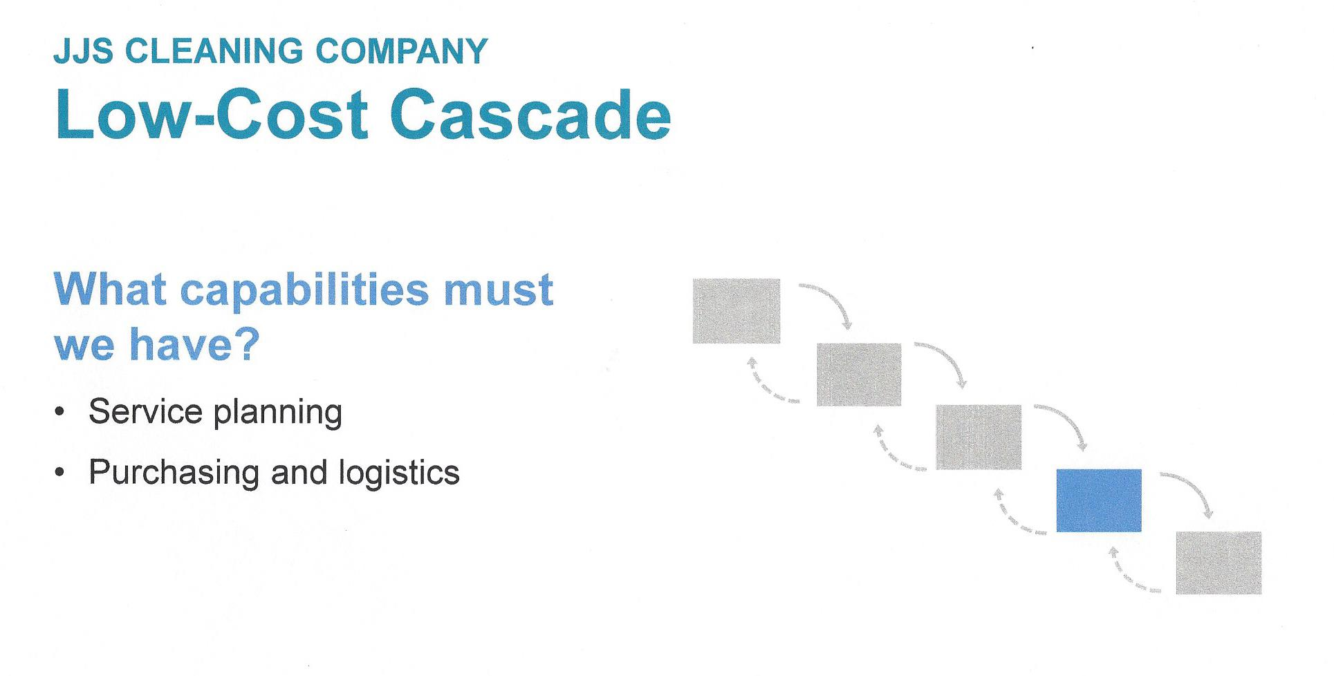 Play to Win - Low-Cost Cascade - Capabilities