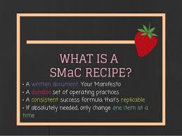 SMaC Recipe chalkborad