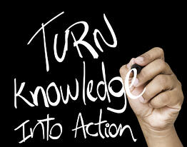 Turn Knowledge into action written on wipe board-1