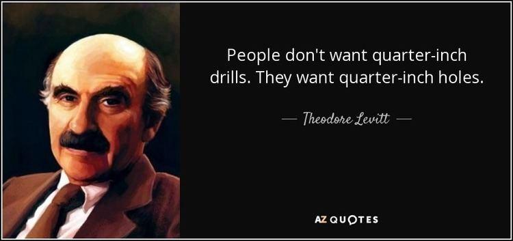 theodore-levitt-People don't want drills,  3-4 holes
